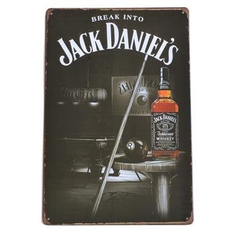 精巧なキャロラインたくさんのJACK DANIEL'S ブリキ看板 ジャックダニエル 看板 No.7 40cm×30cm (デザイン1) [並行輸入品]