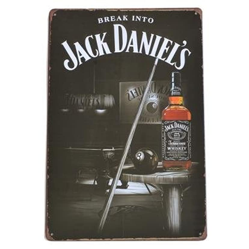収穫身元パターンJACK DANIEL'S ブリキ看板 ジャックダニエル 看板 No.7 40cm×30cm (デザイン1) [並行輸入品]