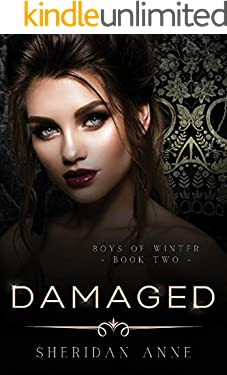 Damaged: A Dark Enemies to Lovers Reverse Harem Romance (Boys Of Winter Book 2)