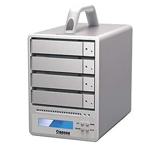 mathey USB3.0/FireWire800/eSATA 8TB HDD搭載 4ベイRAID0/RAID5/JBODストレージシステム(SR4-WBS3J-8T )