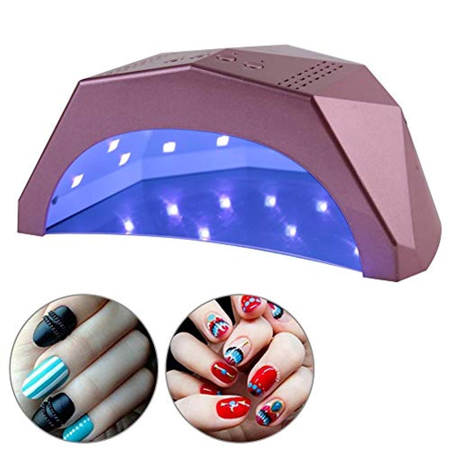 静める小包シットコム24W/48W 切り替え可能ネイルドライヤー 30個LEDライト 自動センサー 3つのタイマー付き UV LED ネイルランプ(01)