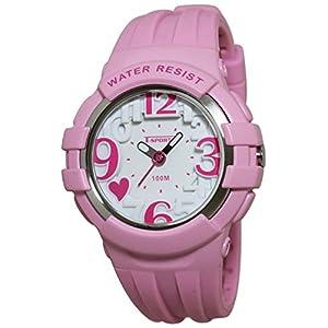 [クレファー]CREPHA 腕時計 T-SPORTS アナログ表示 10気圧防水 立体文字盤 シリコンバンド ピンク AZ-TS-A048-PK ガールズ