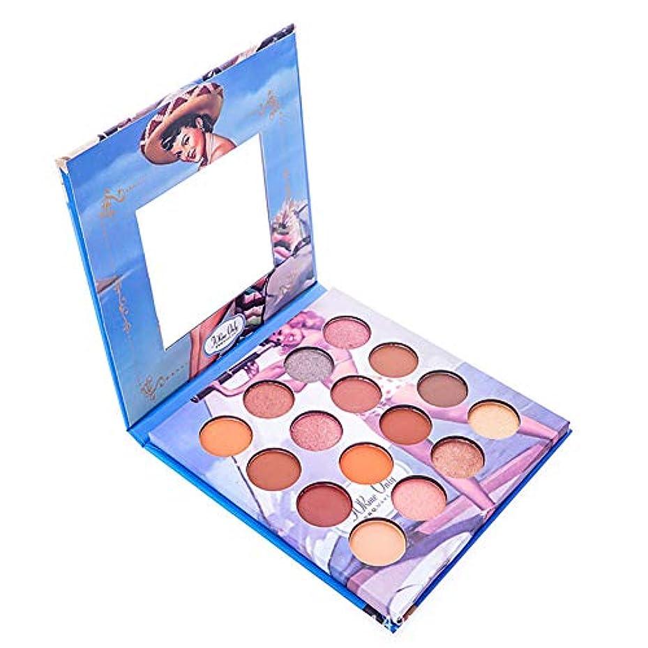 アセインフラ広告するRabugogo 16色シマーマットアイシャドウ化粧パレットレトロスタイルピグメントアイシャドウパウダー長持ち化粧品セット A