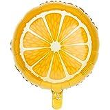 【】果物 ヘリウム ホイルバルーン キッズ パーティー おもちゃ 装飾 10個 6種 - オレンジ