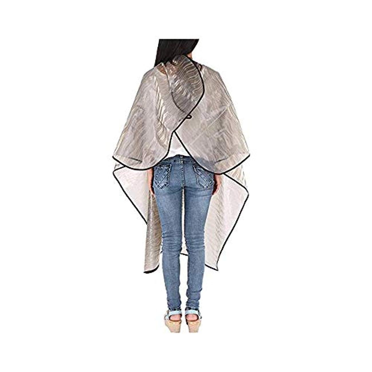 刈る集中聴覚透明防水毛染め布、3個のヘアカットケープ3Dウォーターリップル毛染め布、 モデリングツール