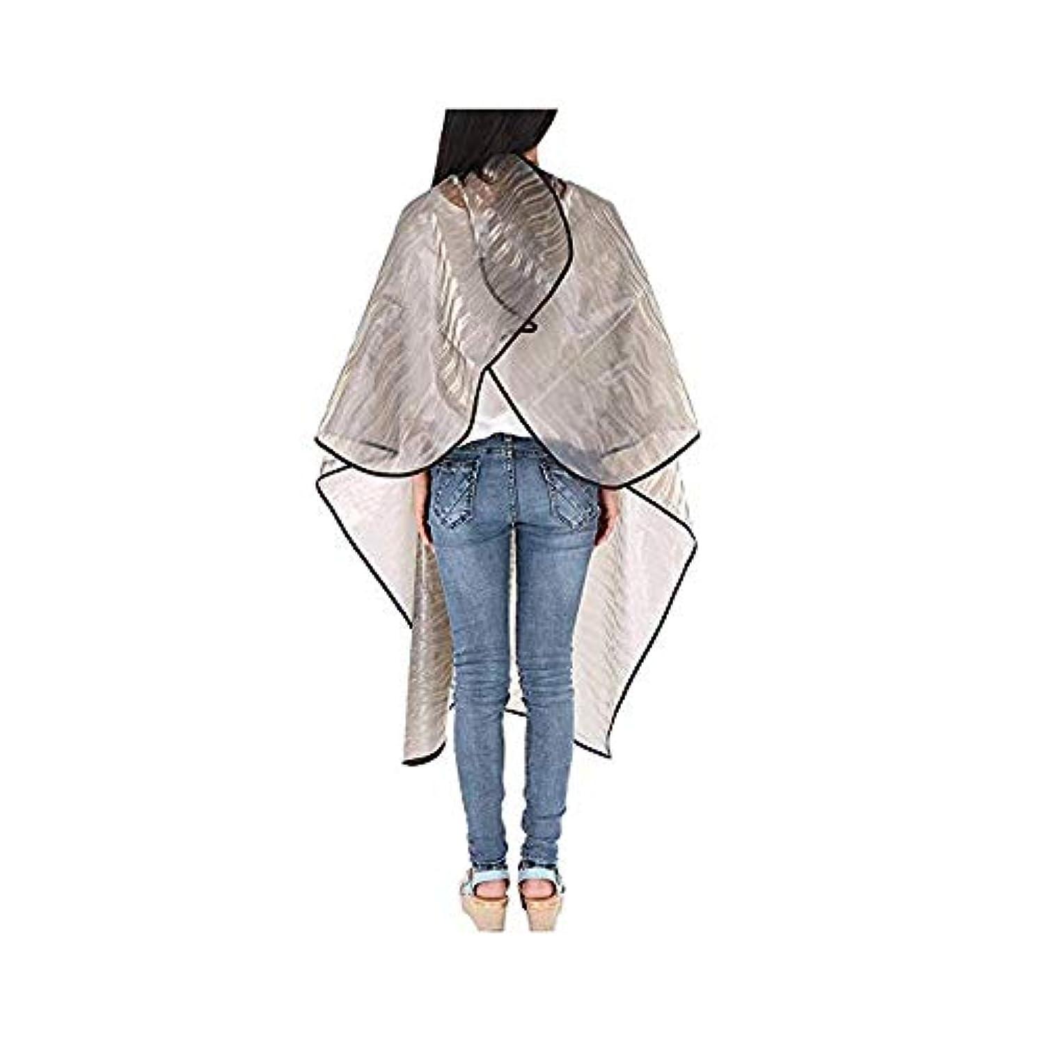 強化するサンドイッチガラガラ透明防水毛染め布、3個のヘアカットケープ3Dウォーターリップル毛染め布、 ヘアケア