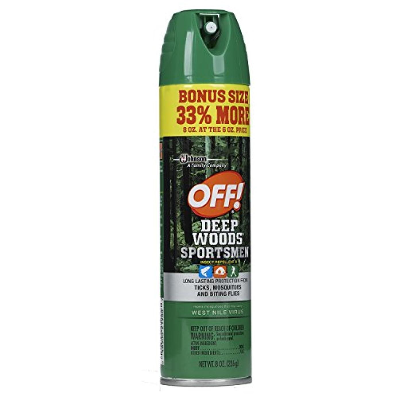 傾向フラフープ責OFF! Deep Woods Sportsmen Insect Repellent, 8 oz. by OFF!