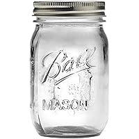 Made In USA 【Ball】ボール Mason Jar メイソンジャー レギュラーマウス 480ml Clear クリアー