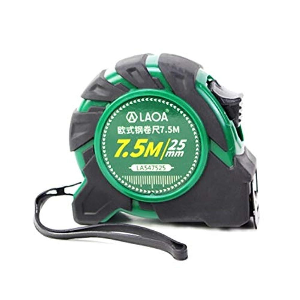 豊かなキャンプ不屈CXBH スチール製巻尺両面巻尺、ホーンフック7.5MX25MM、グリーン 実用的 (Color : Green, Size : 7.5m)