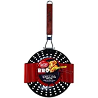 TableCraft BBQ19H BBQ Nonstick Grill Wok with Wood Handle, Small, Steel [並行輸入品]