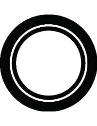 家紋シール 輪抜き紋 布タイプ 直径40mm 6枚セット NS4-3052