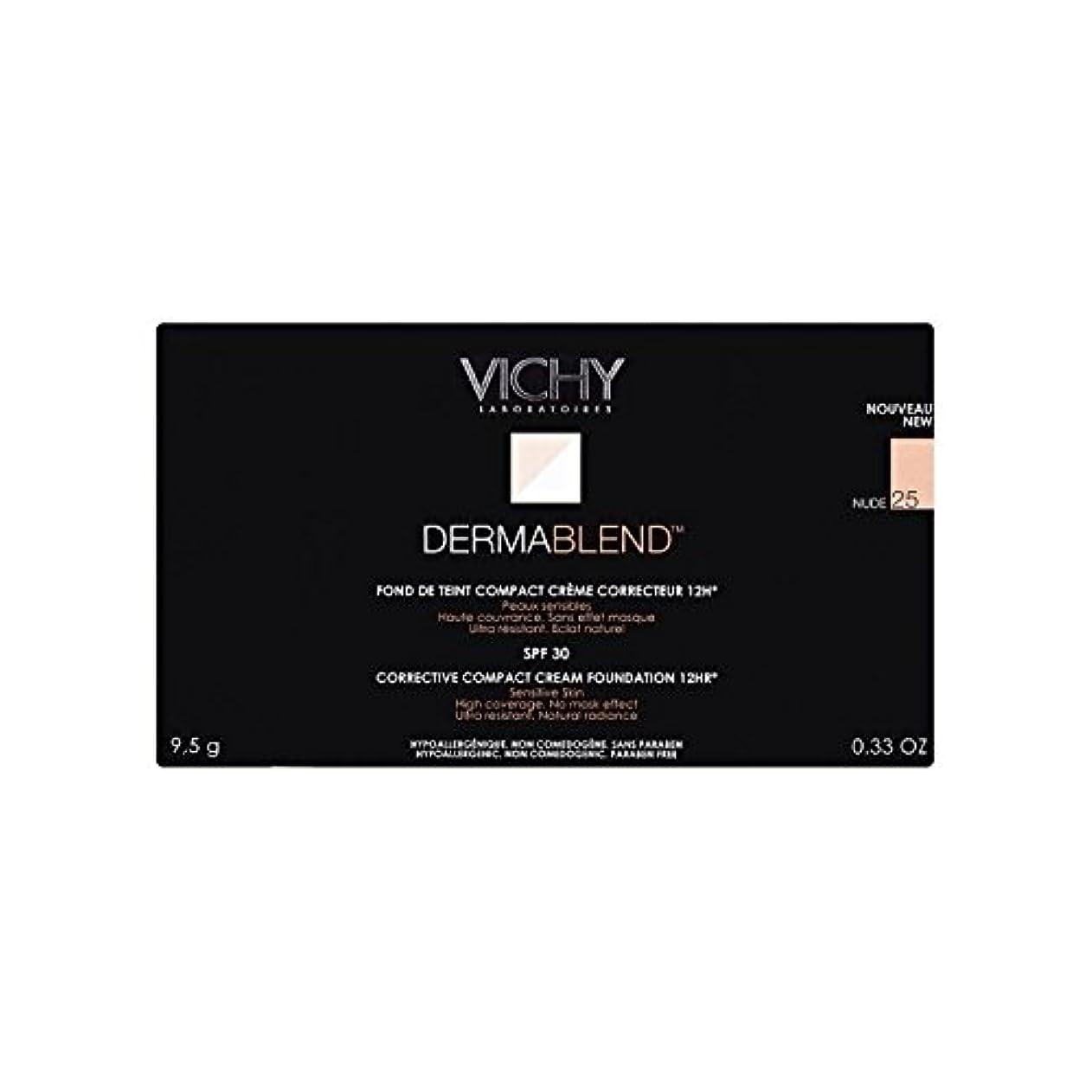 陽気な脅かす協力25ヌードヴィシー是正コンパクトクリームファンデーション x4 - Vichy Dermablend Corrective Compact Cream Foundation Nude 25 (Pack of 4) [並行輸入品]