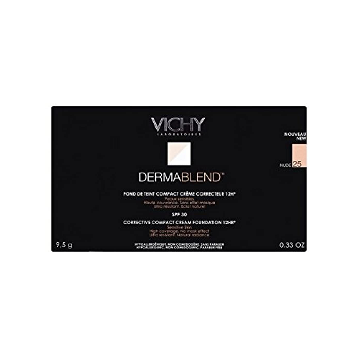 海外でトライアスリート地下鉄25ヌードヴィシー是正コンパクトクリームファンデーション x4 - Vichy Dermablend Corrective Compact Cream Foundation Nude 25 (Pack of 4) [並行輸入品]