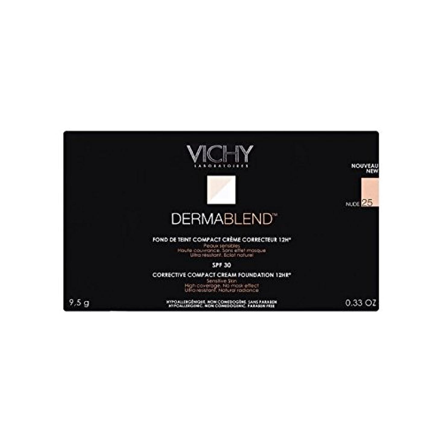 六それに応じてドラフト25ヌードヴィシー是正コンパクトクリームファンデーション x4 - Vichy Dermablend Corrective Compact Cream Foundation Nude 25 (Pack of 4) [並行輸入品]