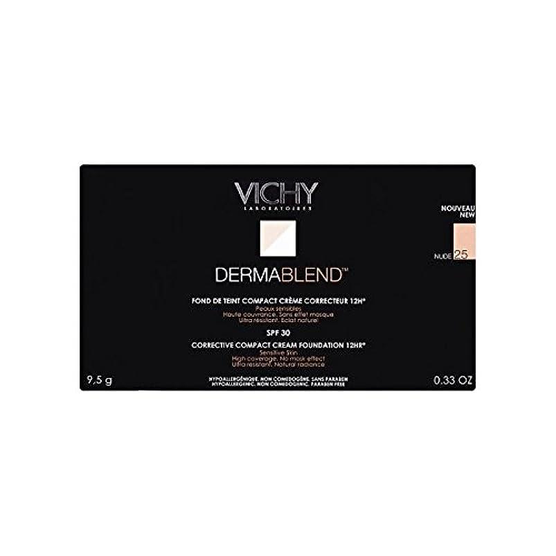 スイッチオッズ感嘆25ヌードヴィシー是正コンパクトクリームファンデーション x2 - Vichy Dermablend Corrective Compact Cream Foundation Nude 25 (Pack of 2) [並行輸入品]