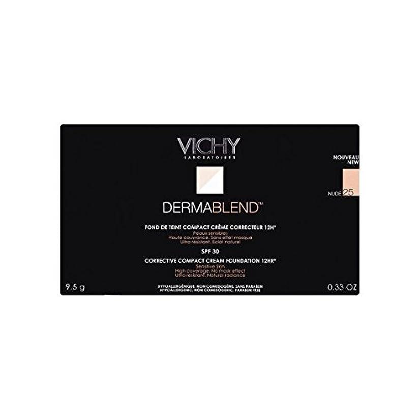 加入補助反論25ヌードヴィシー是正コンパクトクリームファンデーション x2 - Vichy Dermablend Corrective Compact Cream Foundation Nude 25 (Pack of 2) [並行輸入品]