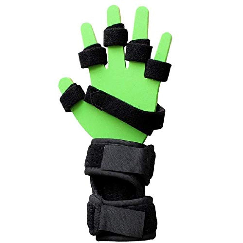 推進、動かすハンバーガー委員長手の損傷/片麻痺/脳卒中の抗痙性機能障害指装具手のリハビリテーションのための手の添え木 (Color : Left, Size : Large)