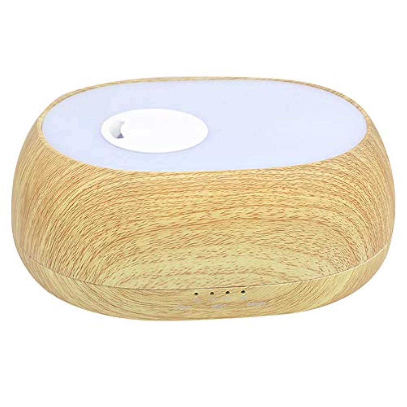 言い訳カバー謙虚加湿器 超音波 クールミスト 7色ライト アロマセラピー 芳香 オイル蒸発器 ディフューザー エッセンシャルオイル エアー浄化 (500ml)(#1)