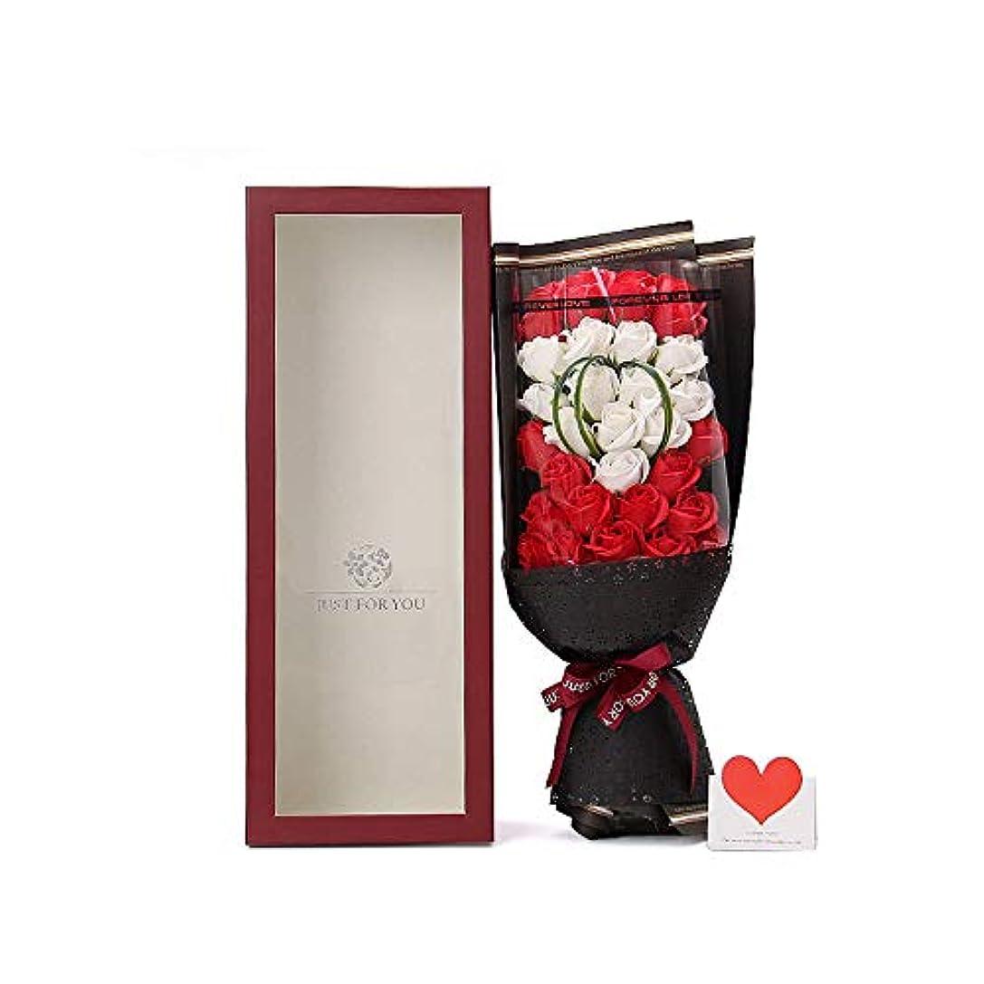 手作りのソープフラワーブーケのギフトボックス、女性のためのギフトバレンタインデー、母の日、結婚式、クリスマス、誕生日を愛する女の子(クマの色はランダム) (色 : ワインレッド)