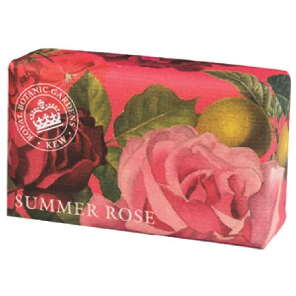 刺繍利点時系列English Soap Company イングリッシュソープカンパニー KEW GARDEN キュー?ガーデン Luxury Shea Soaps シアソープ Summer Rose サマーローズ