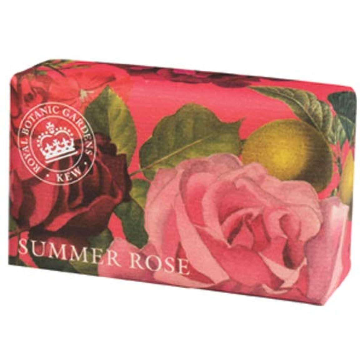 操縦する石油囲まれた三和トレーディング English Soap Company イングリッシュソープカンパニー KEW GARDEN キュー?ガーデン Luxury Shea Soaps シアソープ Summer Rose サマーローズ