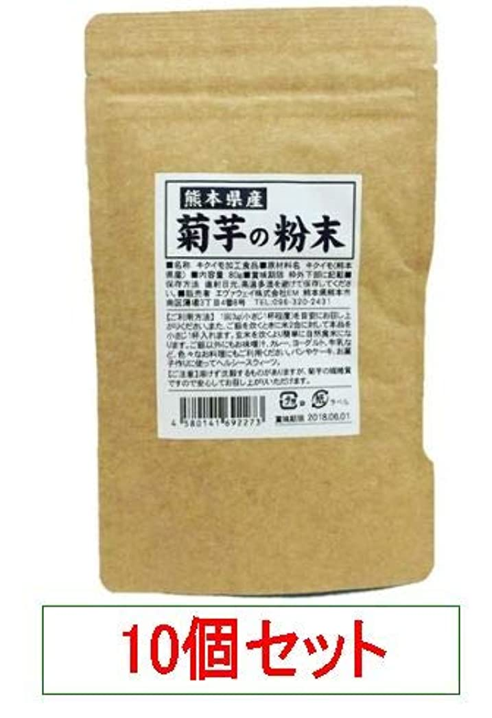 継続中知らせる大熊本県産 菊芋の粉末 エヴァウェイ 80gX10個セット