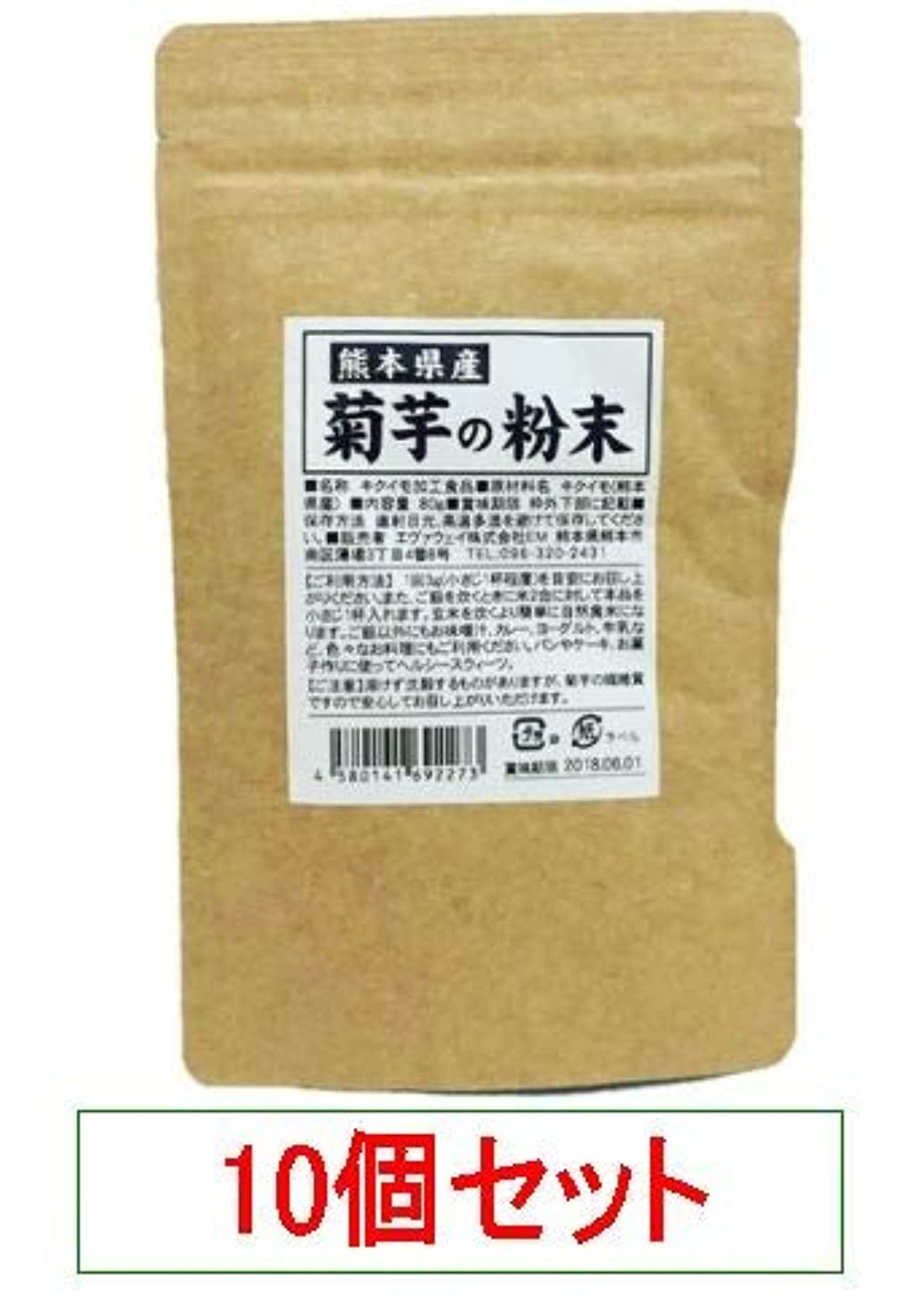 背が高い雑草誇大妄想熊本県産 菊芋の粉末 エヴァウェイ 80gX10個セット