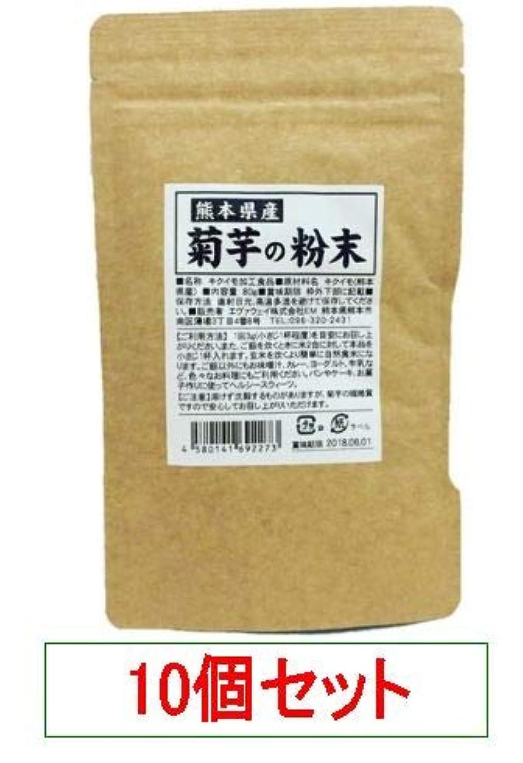 一部フリンジ緊張熊本県産 菊芋の粉末 エヴァウェイ 80gX10個セット