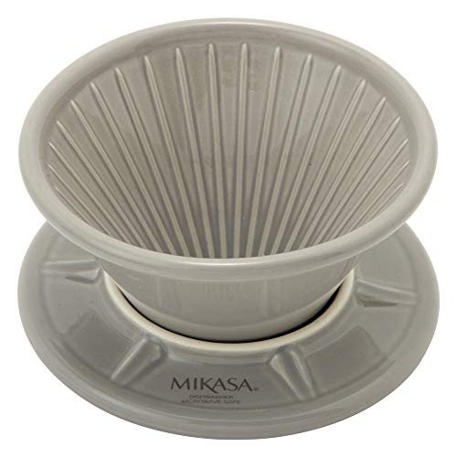 MIKASA コーヒードリッパー グレー 直径10.8×高さ7.3cm 電子レンジ・食洗機・オーブン対応 T-784006