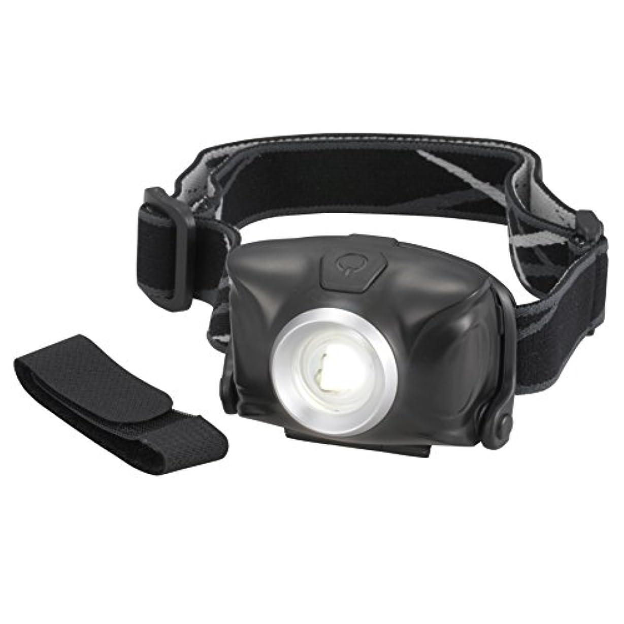 欲求不満住むまあオーム電機 リュックバンド付 LEDヘッドライト 単4形*3本使用 ブラック LED-YH9-K LED-YH9-K