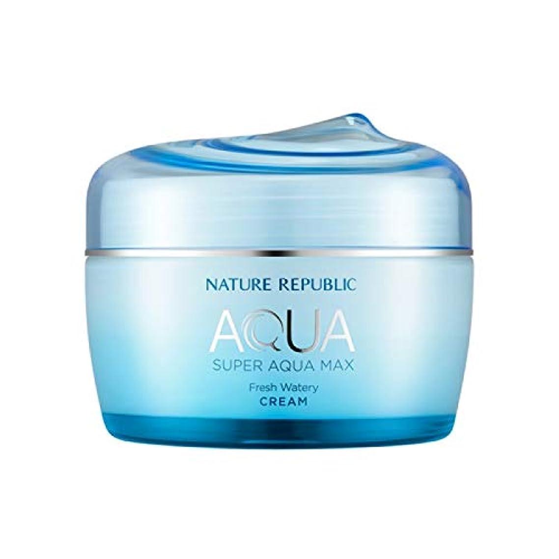 溢れんばかりの現実には刺すネイチャーリパブリック(Nature Republic)スーパーアクアマックスフレッシュ水分クリーム[オイリー] 80ml / Super Aqua-Max Fresh Moisture Cream (Oily) 80ml...