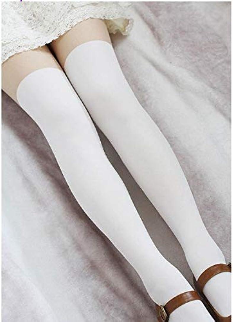 ウィザード田舎者ダースMengCプリンセス甘いロリータのストッキングは肌の色腿下タイツ偽高学生春夏白 pantyhoseLKW4-2,Black