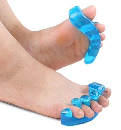足指パッド 足指セパレーター 足指矯正パッド 外反母趾 サポーター 矯正 5本指 足指 広げる ジェル シリコン S M L (Lサイズ)
