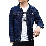 YFFUSHI 全3色 デニムジャケット Gジャン メンズ ジージャン ダメージ 加工 長袖 大きいサイズ XS-3XL 綿 カジュアル きれいめ お洒落 快適