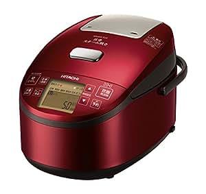 日立 炊飯器 5.5合 圧力スチームIH式 ふっくら御膳 日本製 3段階炊き分け機能搭載 高伝熱 打込鉄・釜 おいしい少量炊き 蒸気カット RZ-AV100M R