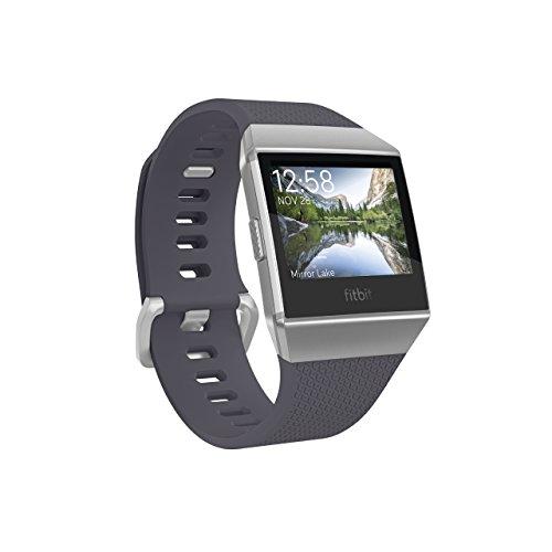 【Amazon限定先行発売】Fitbit フィットビット スマートウォッチ iONIC 心拍 睡眠 パーソナルコーチ GPS搭載 水泳防水 Charcoal/Smoke Gray チャコール/スモークグレー L/Sサイズ【日本正規品】 FB503GYBK-CJK