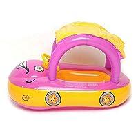 浮き 輪 キッズな赤ん坊のプールの浮遊物の水泳リングの赤ん坊の座席ボートのヨット2〜6ヶ月の幼児の日よけと安全,yellow