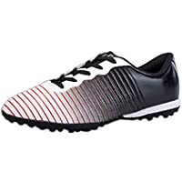 Inlefen Boys and Girls' Printed Rubber Sole Low Top Training Soccer Sneaker