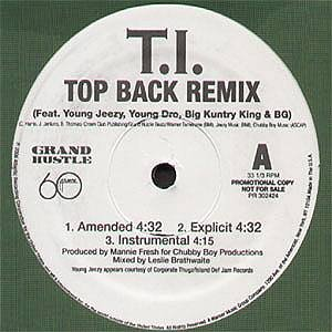 Top Back / Top Back Remix [12 inch Analog]