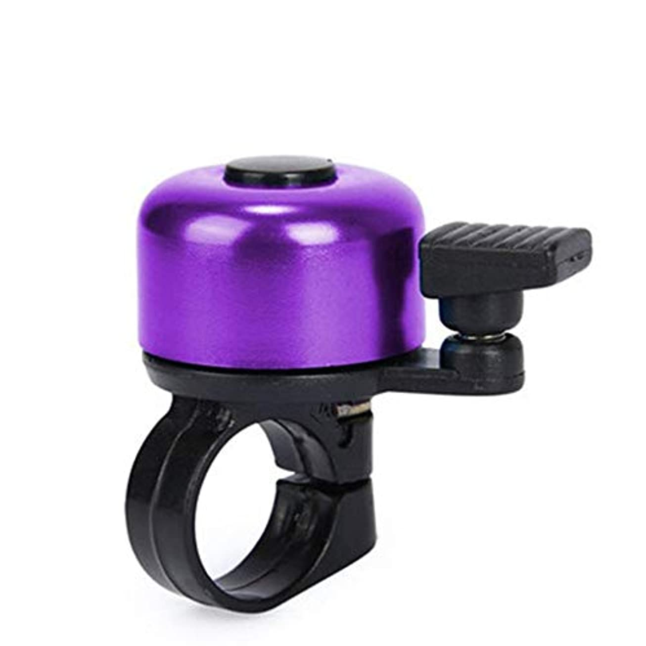 クッション布口述するアルミニウムバイクの鐘、騒々しい健全な自転車の鐘の大人は女の子の男の子をからかいます (Color : Purple)