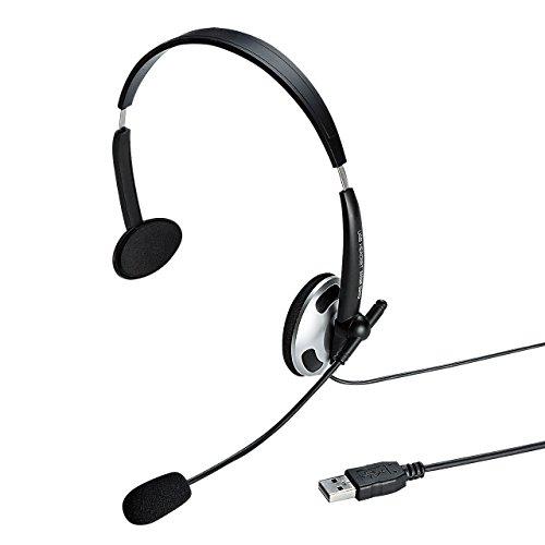 サンワサプライ USBヘッドセット/ヘッドホン MM-HSUSB13BK