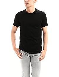 Cruciani (クルチアーニ) Cotton Jersey Crew Neck T-shirt (コットン ジャージー クルーネック Tシャツ) クルーネック Tシャツ NERO (ブラック) made in italy (イタリア製)