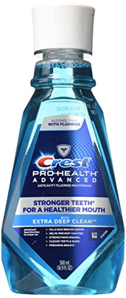 もっとミル連帯(2 Pack) Crest Pro-Health Advanced Mouthwash with Extra Deep Clean, Fresh Mint, 16.9 oz. ea. by Proctor & Gamble