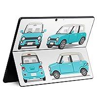 igsticker Surface Pro X 専用スキンシール サーフェス プロ エックス ノートブック ノートパソコン カバー ケース フィルム ステッカー アクセサリー 保護 010221 乗り物 車 青