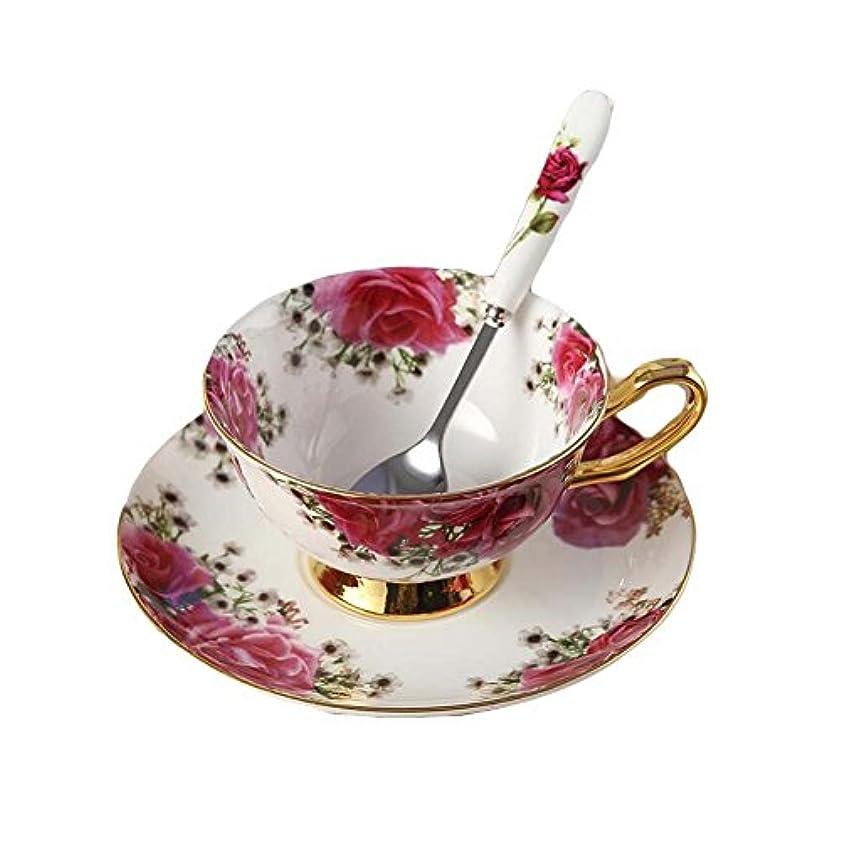 不名誉なシャンパン洞察力のあるNdhtのセット2ヨーロッパロイヤルイングランドボーンチャイナセラミックティーカップコーヒーカップ、花、白と赤、withギフトボックス