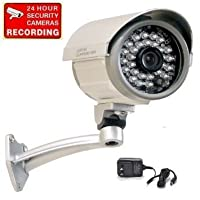 """VideoSecu Bullet Security Camera Built-in 1/3"""" SONY CCD Outdoor Indoor Weatherproof Night Vision IR Infrared CCTV Camera with Free Power Supply C67 [並行輸入品]"""
