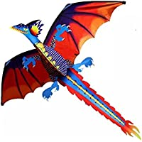 gbell Amazing 3d Dragon Kite funアウトドアFlyingアクティビティGame with Tail子供、大人
