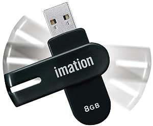 イメーション USBメモリ 8GB 暗号化プロテクション・ソフト搭載 回転式キャップ NANO-f ブラック UFDNFE8GBK