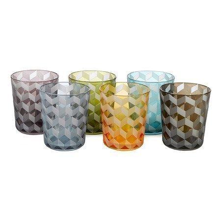Pols Potten Tumbler Blocks Set of 6 Multi-Coloured