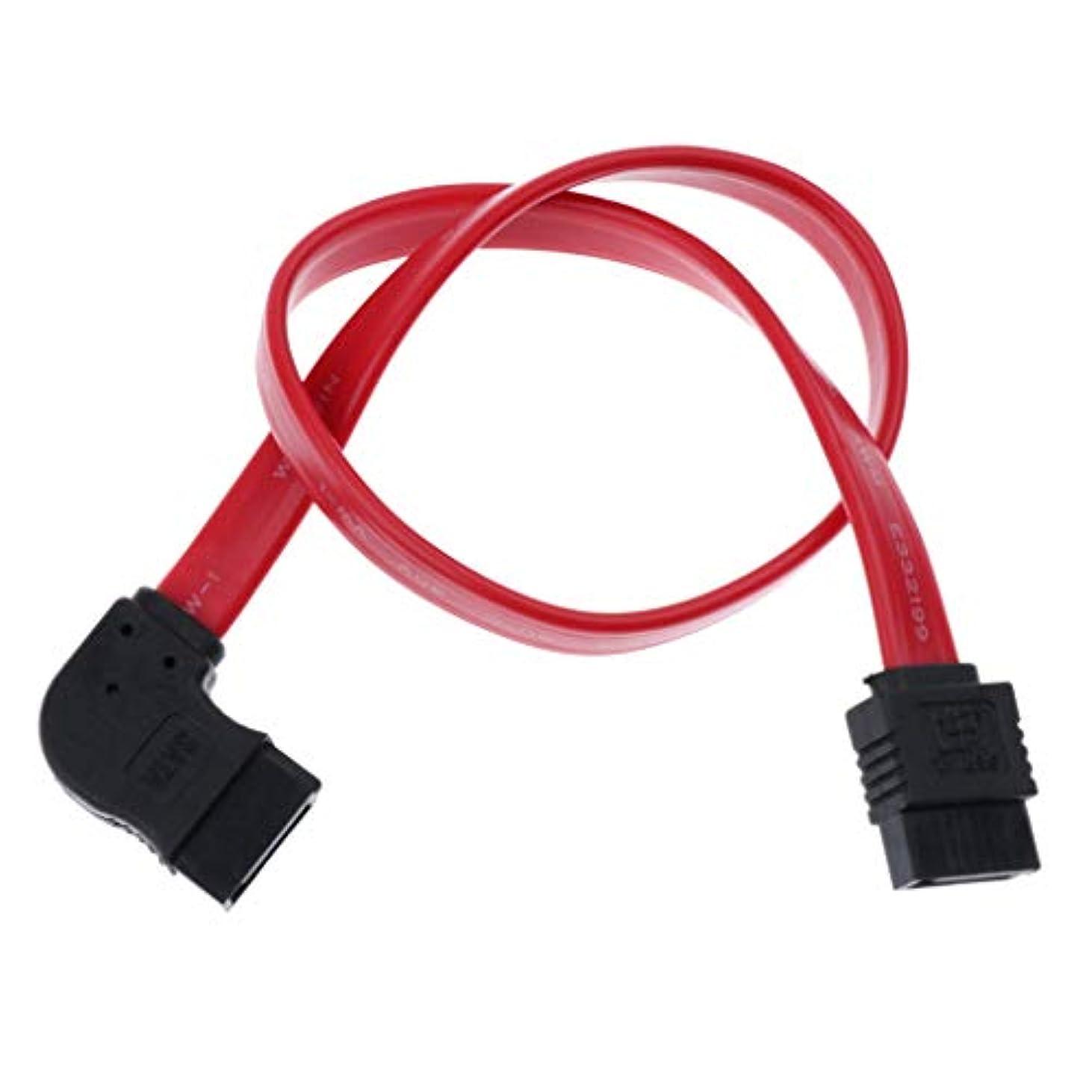 建築家ドレイン意味するBaosity 12インチ SATAケーブル 90度 6Gbps データケーブル ロックラッチ付き 赤